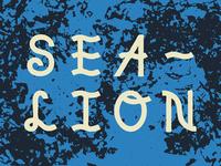 Sea Lion Lettering