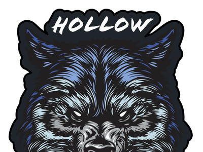 Hollow Wolves - Embroidered Patch Vector vectorart illustration vector embroidery embroidered patch scratch scratchboard indian native american wolves wolf