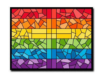 Rainbow Stained Glass - Magnet/Sticker