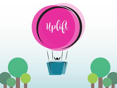 Uplift - Daily Logo Challenge - Day 2 succeed up logo logo design positive uplift hot air balloon