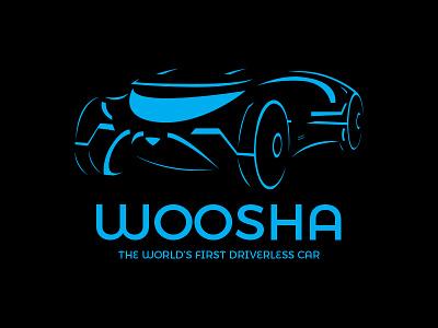 Woosha - Driverless Car - Daily Logo Challenge different concept car black blue driverless car car futuristic