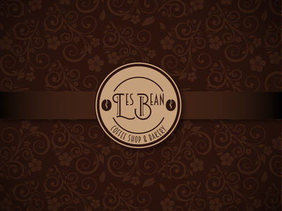 Les Bean Coffee Shop & Bakery - Daily Logo Challenge design tan brown coffee bean coffee shop logo bakery coffee