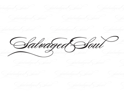 Salvaged Soul Designs - Daily Logo Challenge - Day 7 salvaged soul logo white black design fashion label soul wordmark