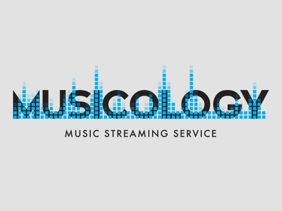 Streaming Music Service - Logo Challenge - Day 9 streaming logo tone sound reverb black blue music