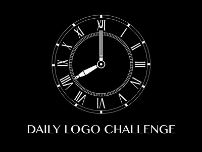 Daily Logo Challenge - Logo (Day 11) creativity design watch clock monochrome white black branding challenge logo daily logo challenge