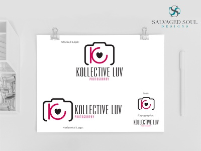 Kollective Luv - Logo Concept 1 black pink concept design photo logo photography
