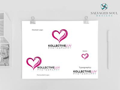 Kollective Luv - Logo Concept 2 cute photo white pink black love logo photography