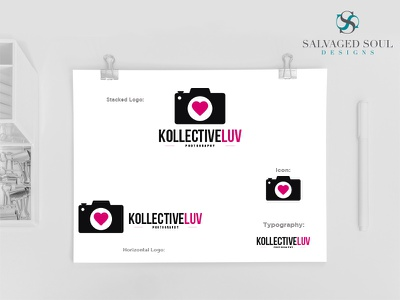 Kollective Luv - Logo Concept 3 pink black concept logo photo love studio photography