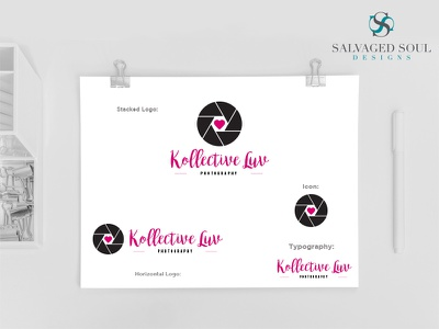Kollective Luv - Logo Concept 4 black pink love picture photo studio photography