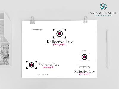 Kollective Luv - Logo Concept 5 pink black heart love design logo studio picture photo photography
