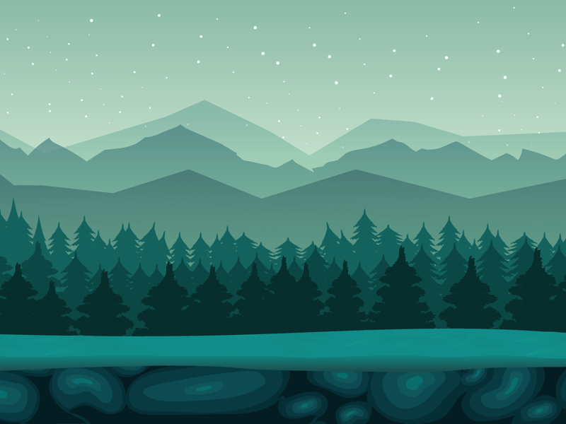 Green Forest Night Background By 2d Vill On Dribbble