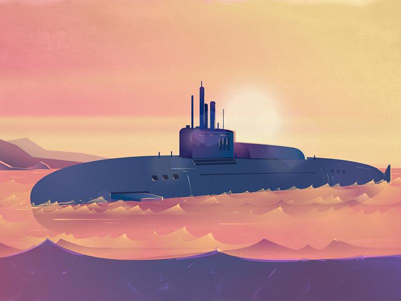 Submarine submarine sea underwater boat illustration marine military navy ocean periscope vector water