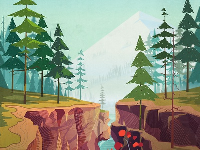 Canyon Background canada rock illustration forest mountain cartoon river background landscape grand vector canyon