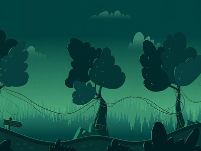 Magic forest game background gamedev ios runner platformer vector landscape magic nature 2d horizontal sidescroller background game forest