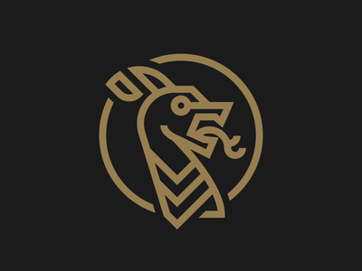 HIC SVNT DRACONES okc viking logo dragon
