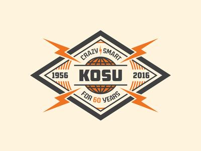 KOSU 60th Anniversary Logo