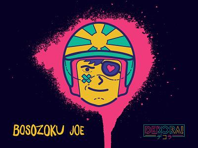 Bosozoku Joe bosozoku character okc restaurant sushi dekora