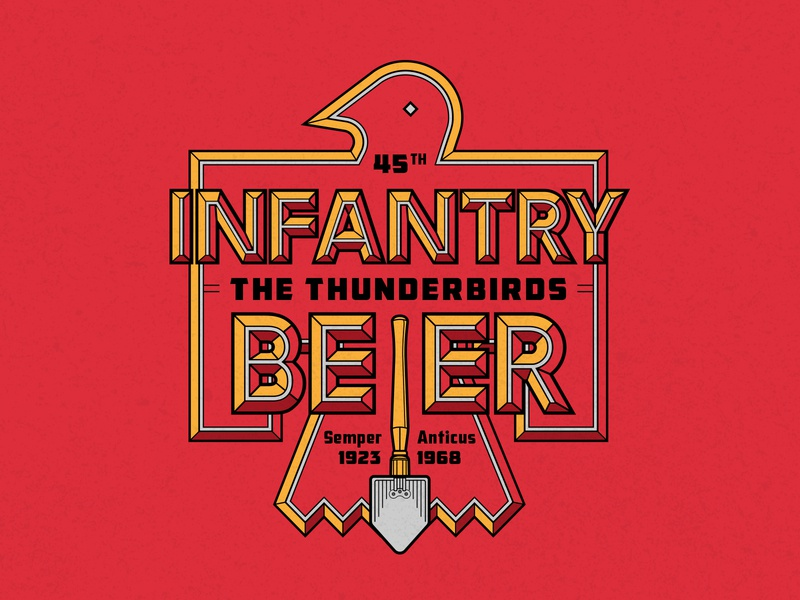 Infantry Beer can design packaging package beer infantry 45th national guard oklahoma