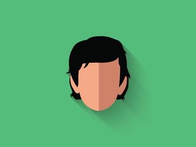 Poe Dameron Flat Design Icon