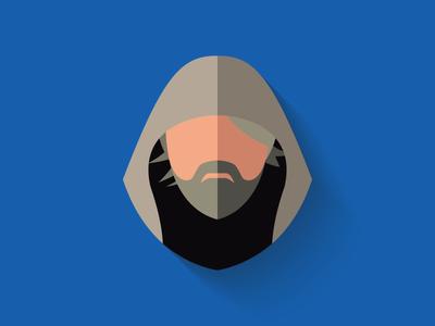 Older Luke Skywalker Flat Design Icon