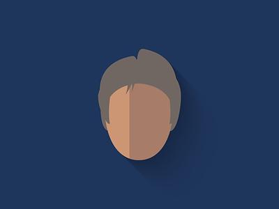 Older Han Solo Flat Design Icon force awakens han solo icon design icon star wars long shadow design flat design character design