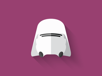 Snowtrooper Flat Design Icon force awakens first order snowtrooper icon design icon star wars long shadow design flat design character design