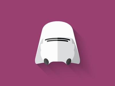 Snowtrooper Flat Design Icon