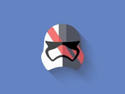 Captain Phasma Flat Design Icon