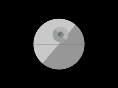 Death Star Flat Design Icon