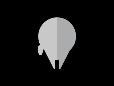 Millennium Falcon Flat Design Icon
