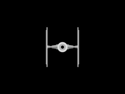 Tie Fighter Flat Design Icon