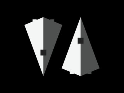 Star Destroyer Flat Design Icon