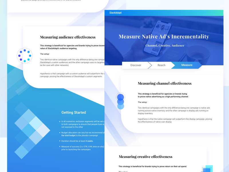 cf2a0605ae Native Ads One-Pager daily ui blue app design landing page illustration web  branding vector