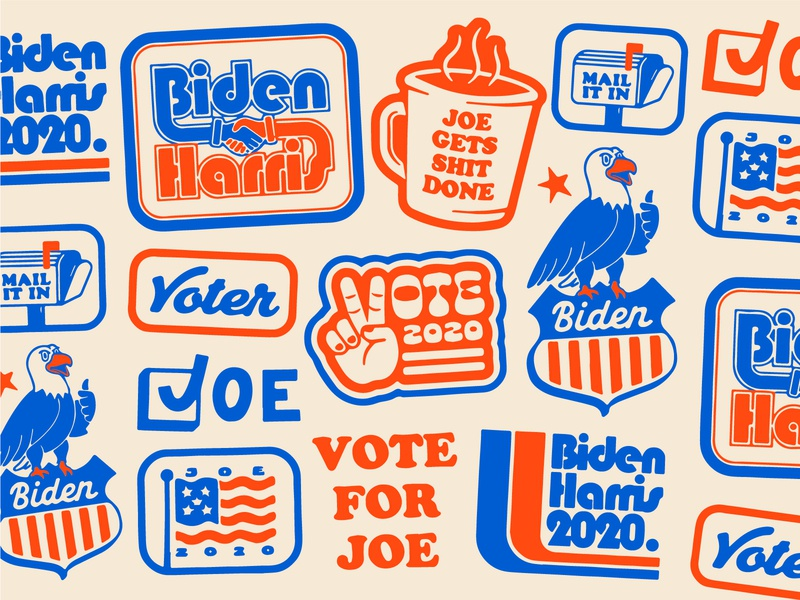 Biden Harris pattern joe kamala harris biden trump election usa eagle texture retro vintage thursday fall november flag america american vote badge