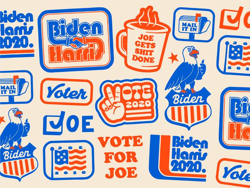 Biden Harris pattern joe kamala harris biden trump election usa eagle texture retro vintage thursday fall november flag america american vote badge