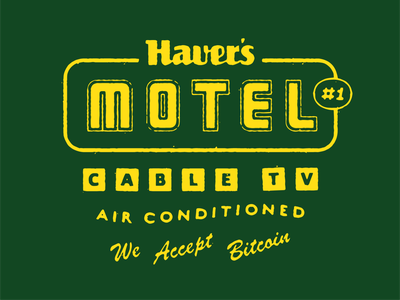 Haver's Motel logo haver type lockup badge hotel motel tuesday texas austin rough texture throwback vintage retro lettering custom type type