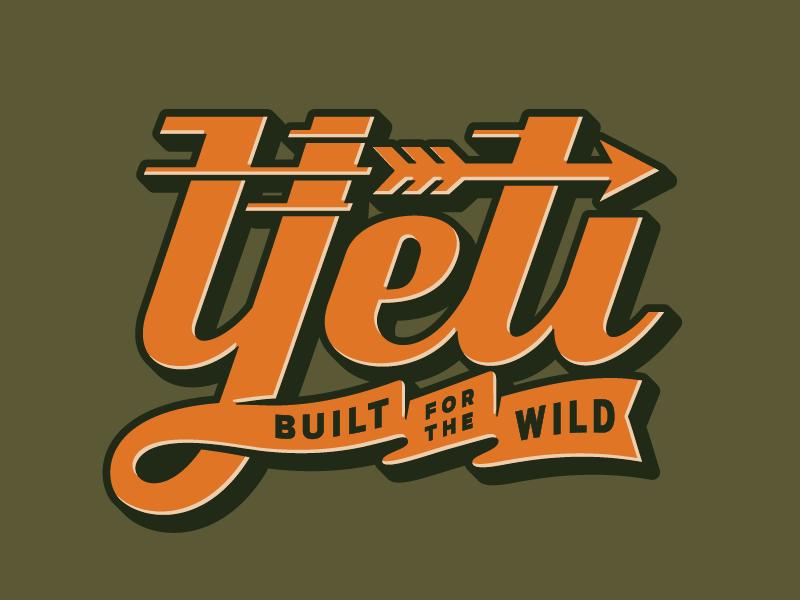 YETI Grave Yard 01 outdoor logo austin yeti wild sticker badge custom type type script