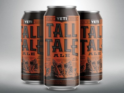 Tall Tale Ale tall ale tall tale illustration type beer branding liquor texas austin yeti packaging can beer