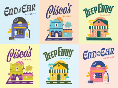 Austin Travel Posters
