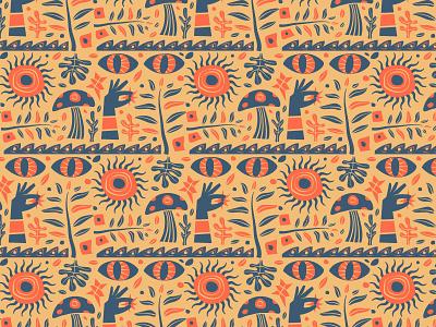Patternz sun planty mushroom austin texture psychedelic trippy earthy boho pattern