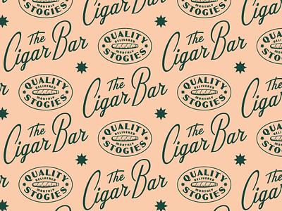 Cigar Bar bar sticker 60s retro vintage star typography custom script lettering identity branding logo badge smoking smoke havana tobacco cigar
