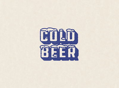 cold beer 70s vintage texture ale winter snow retro type weekend beer cold