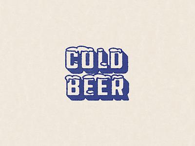cold beer 70s vintage texture ale winter snow retro type weekend beer cold