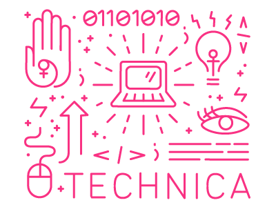 Technica Icons girl vector illustration female hackathon technica icons