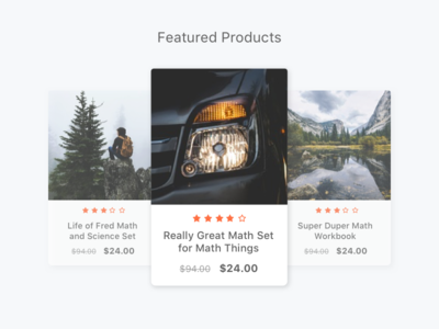 Product Carousel Exploration