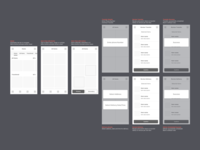 User flow for a side project