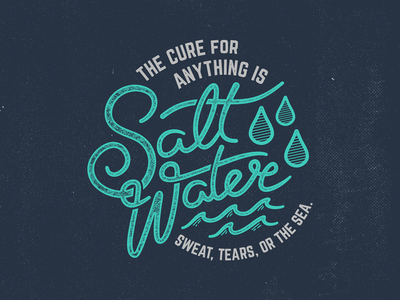 Salt Water Cure Type endreoladesign salt water cure lettering