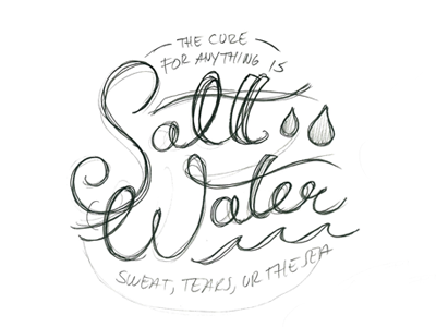 Salt Water Cure Letters Sketch process endreoladesign salt water cure lettering