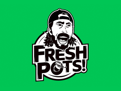 Dave Grohl Fresh Pots Team Logo foo fighters coffee logo vector illustration ultimate frisbee fresh pots dave grohl