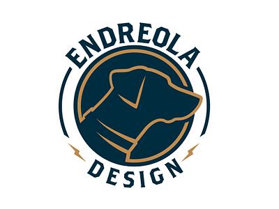 Personal Logo branding dog icon personal endreola design logo